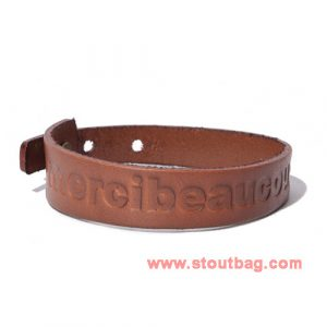 mercibeaucoup-logo-leather-strap-brown-1
