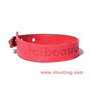 mercibeaucoup-logo-leather-strap-orange-1