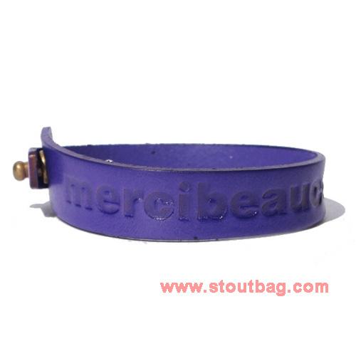 mercibeaucoup-logo-leather-strap-purple-1