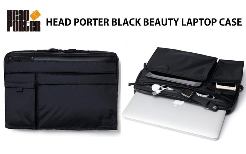 HEAD PORTER BLACK BEAUTY LAPTOP CASE  d4ac1f0bb1123