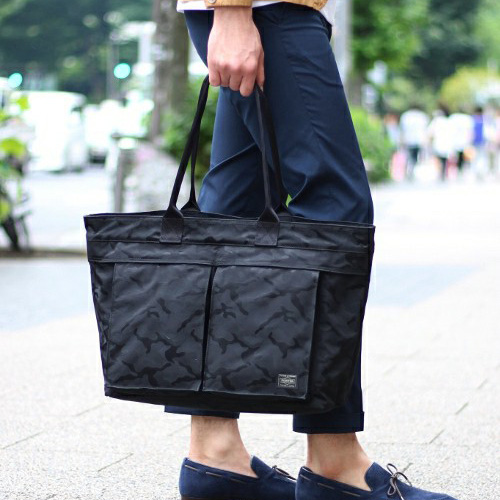 LOWERCASE×PORTER×EDIFICE-TOTE-BAG-black
