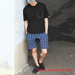 base control pocket tee black for men