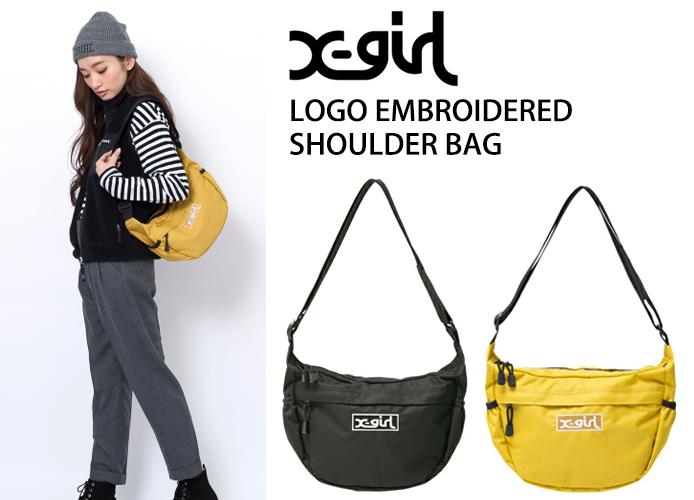 x-girl-logo-embroidered-shoulder-bag