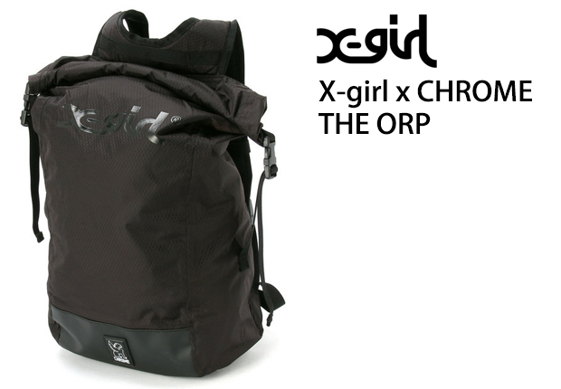 x-girl x chrome backpack in black color