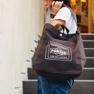 lowercasexporter-totebag-charcoal in stoutbag