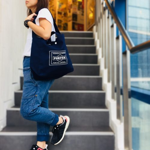 lowercasexporter-totebag-navy by stoutbag online shop