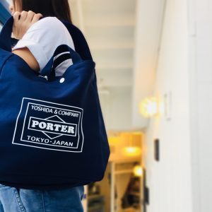 lowercasexporter-totebag-navy by stout shop hong kong